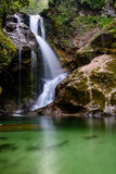 Waterfall in Vintgar gorge (Blejski vintgar), Bled, Slovenia Royalty Free Stock Image