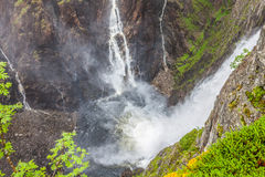 Waterfall Voringfossen - the fourth highest peak in Norway Stock Photography