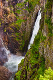 Waterfall Voringfossen in Hardanger Norway Stock Photography