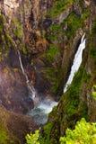 Waterfall Voringfossen in Hardanger Norway Stock Photos