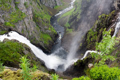 Waterfall Voringfossen, Norway Stock Photos