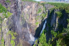 Waterfall Voringfossen, Norway Stock Images