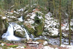 Waterfall in Vosges. Waterfall of the Tendon in Vosges Stock Images