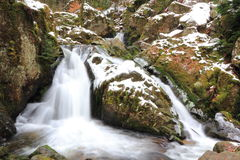 Waterfall in Vosges. Waterfall of the Tendon in Vosges Royalty Free Stock Photos