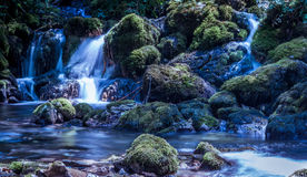 Waterfall Vrelo. Waterfall on the river Vrelo in the national park Tara in Serbia royalty free stock photography