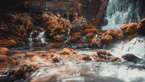 Waterfall Vrelo. Waterfall on the river Vrelo in the national park Tara in Serbia. Vrelo river length is only 365 meters from its source to the estuary of the royalty free stock image
