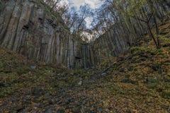 Waterfall Vrkoc near Usti nad Labem town Royalty Free Stock Image