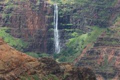 Waterfall. Waimea Canyon Waterfall on Kauai Stock Photos