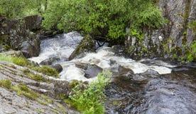 Waterfall on Watendlath Beck, English Lake District, Cumbria, England. Stock Photos
