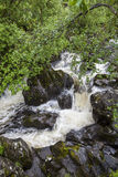 Waterfall on Watendlath Beck, English Lake District, Cumbria, England. Royalty Free Stock Photos