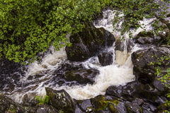 Waterfall on Watendlath Beck, English Lake District, Cumbria, England. Stock Image