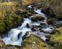 Waterfall at Watendlath Tarn Stock Photo