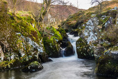 Waterfall at Watendlath Tarn Royalty Free Stock Photos