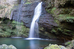 Waterfall. Water cascade fall in incontaminated nature Stock Images