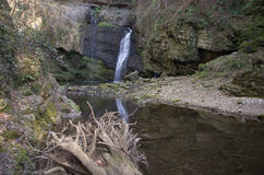 Waterfall. Water cascade on incontaminated nature Stock Photography
