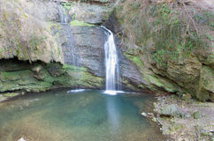Waterfall. Water cascade on incontaminated nature Stock Image