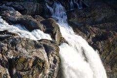 Waterfall water fall falls rocks Stock Photo