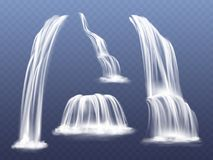 Free Waterfall Water Flow Cascade Vector Illustration Royalty Free Stock Photo - 124756085