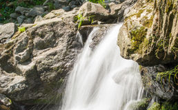 Waterfall water nature. Falling river flowing outdoors royalty free stock image