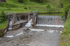 Waterfall - water - river - barrage - water power Royalty Free Stock Image