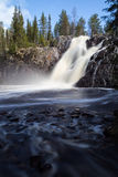 Waterfall. Water rushes down Hepokongas, one of the highest waterfalls in Finland Stock Photography