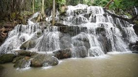 Waterfall. Landscape Tropical forest thailand Asia stock video footage