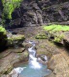 Waterfall Watkins Glen State Park Stock Image