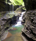 Waterfall Watkins Glen State Park Stock Images
