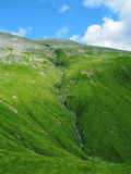 Waterfall on the way to Ben Nevis mountain in Scotland.  Stock Image