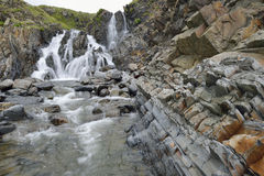 Waterfall at Welcombe Mouth Stock Photography