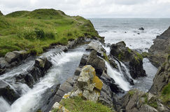 Waterfall at Welcombe Mouth Stock Photo