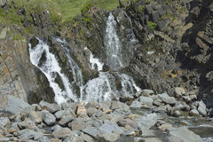 Waterfall at Welcombe Mouth Royalty Free Stock Photo
