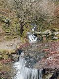Waterfall in the Welsh Countryside Stock Photo