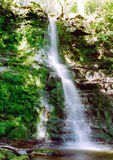 Waterfall in welsh mountains. Blurred photo of a waterfall Royalty Free Stock Photography