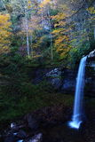 Waterfall in West Virginia. The falls of Hills Creek, West Virginia, USA, surrounded by autumn foliage Royalty Free Stock Images