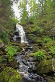Waterfall white bridges. Waterfall in the forest Royalty Free Stock Photos