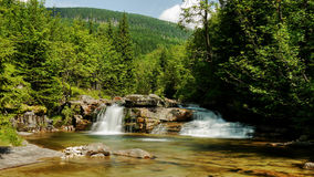 Waterfall at White Labe River Stock Images