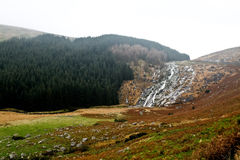 Waterfall in Wicklow mountains Royalty Free Stock Image