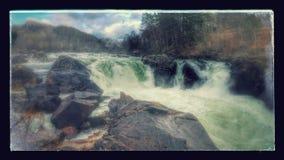 Waterfall. Wild beautiful waterfall in Egersund, Norway Stock Photo
