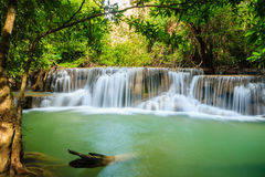 Waterfall in wild National Park. Waterfall Huay Mae Kamin National Park in Kanchanaburi Province, Thailand Stock Photos