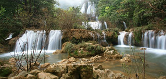 Waterfall in wild at Thi Lo Su Stock Images