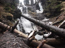 Waterfall in wilderness Stock Images