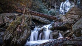 Asheville, NC waterfall. Waterfall in the wilderness of Catawba Falls Trail, North Carolina royalty free stock photo