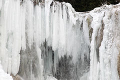 Waterfall in winter Stock Photography