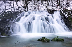 Waterfall in winter Stock Photos