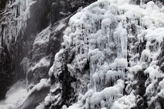 Waterfall in winter Royalty Free Stock Photo