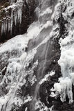 Waterfall in winter Stock Photo