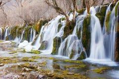 Waterfall in winter Stock Image