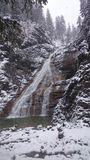 Waterfall in winter. A Waterfall in winter Royalty Free Stock Photo