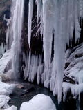 Waterfall. Winter Chegem waterfalls in Kabardino-Balkaria Stock Photography